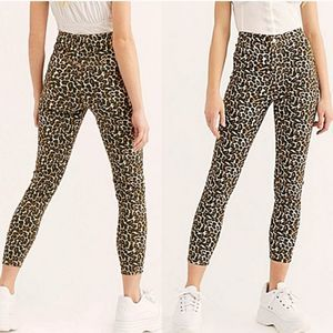 Free People Belle High Rise Leopard Skinny Pants
